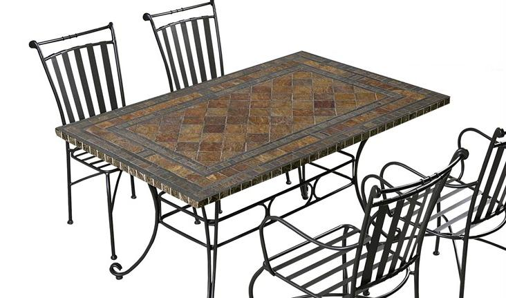 Table fer forg jardin ext rieur table de lit for Table jardin fer forge occasion
