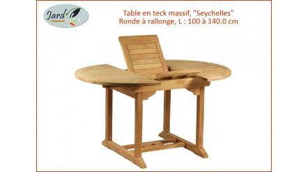 Table en teck massif SEYCHELLES pour 4 à 6 personnes