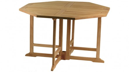 Table teck GRENADINES, Grade A, pliante 120 cm
