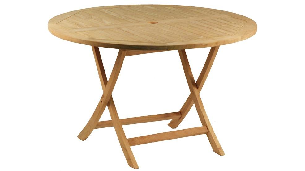 Table En Teck Ronde Mahe