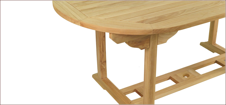 Table En Teck Ovale Victoria