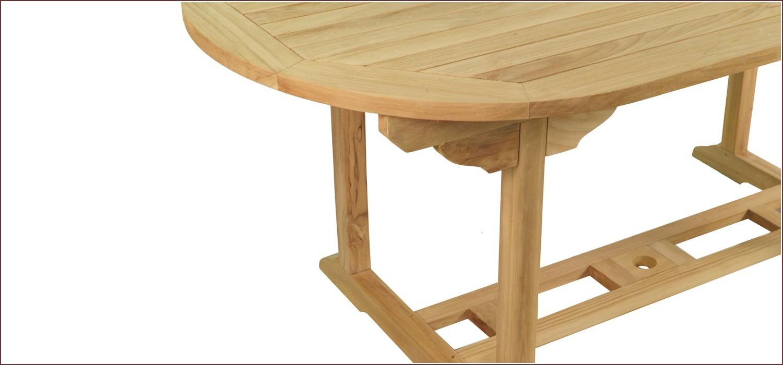 table en teck ovale victoria. Black Bedroom Furniture Sets. Home Design Ideas