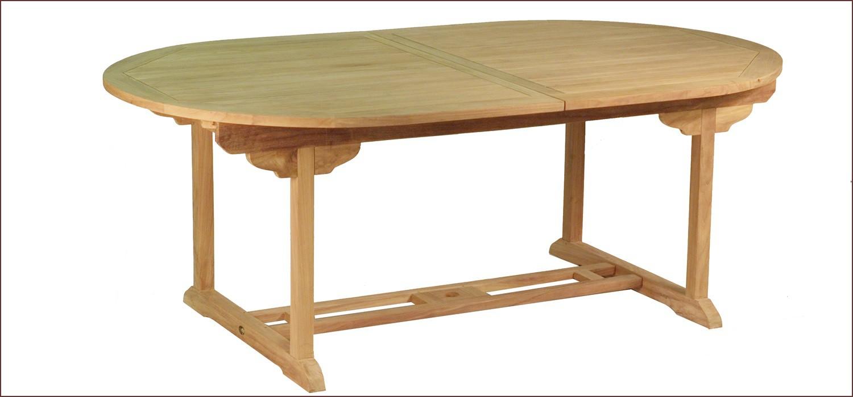 table en teck ovale extensible bora bora. Black Bedroom Furniture Sets. Home Design Ideas