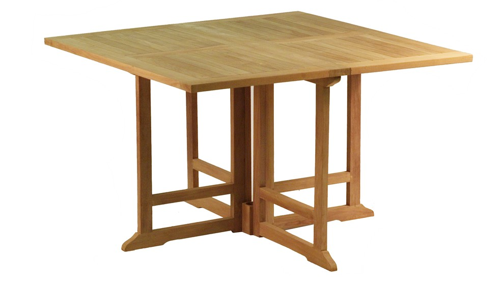 Table en teck carr e pliante baleares - Entretien table en teck ...