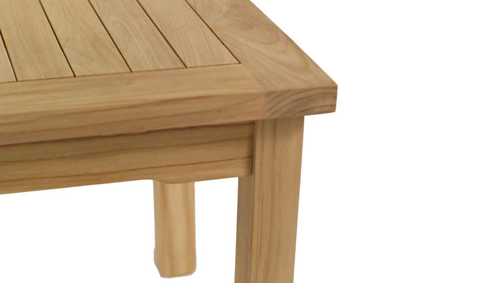 Table basse en teck massif 50x50cm - Table basse en teck massif ...