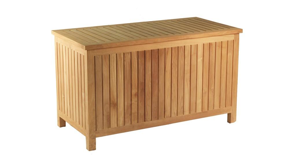 coffre coussins en teck bualu grade a. Black Bedroom Furniture Sets. Home Design Ideas