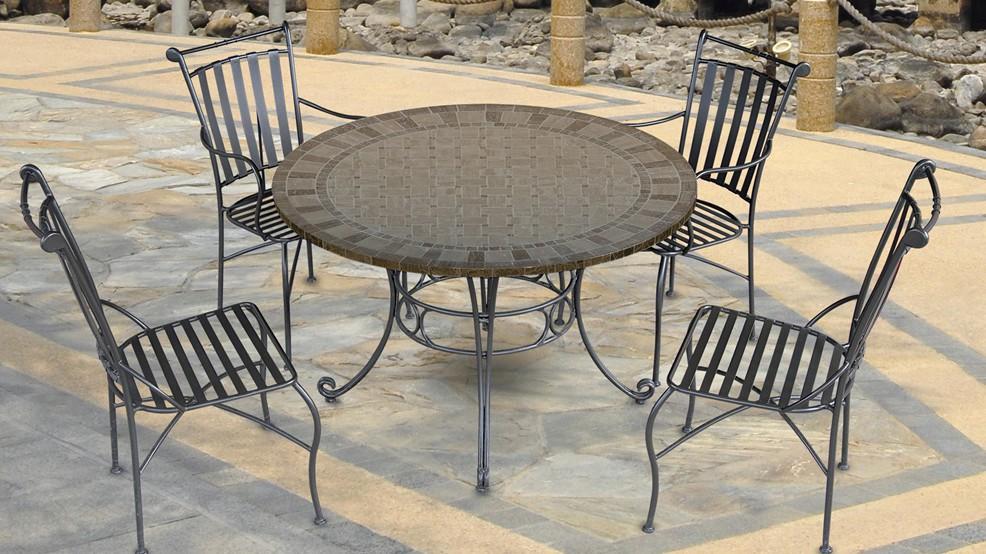 Table en marbre celeste diam 122 0 cm for Entretien table en marbre