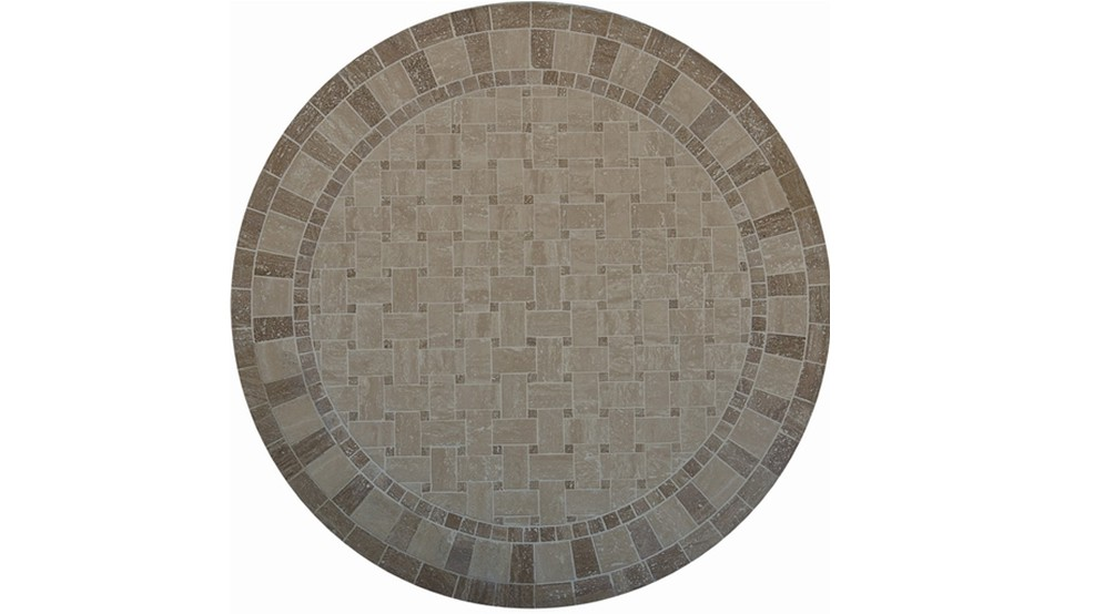 Table en marbre celeste diam 122 0 cm tables rondes en for Entretien table en marbre
