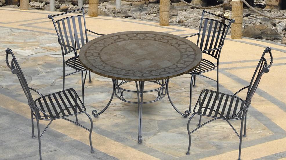 table en marbre carla diam 122 0 cm. Black Bedroom Furniture Sets. Home Design Ideas