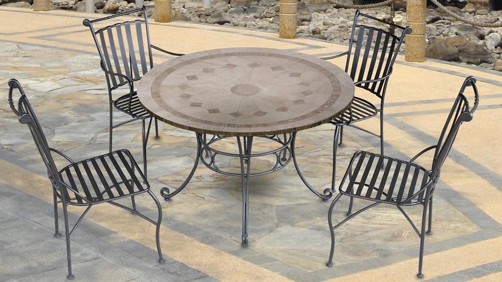 table en marbre julie diam 122 0 cm. Black Bedroom Furniture Sets. Home Design Ideas