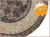 Table en marbre LEA, Diamètre 130 à 150.0 cm