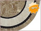 Table en marbre LILA, Diamètre 122 à 150.0 cm
