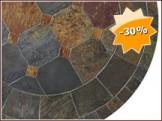Table en ardoise SACHA, Diamètre 122 à 150.0 cm