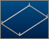 Fondation en aluminium pour serre GENIAL II