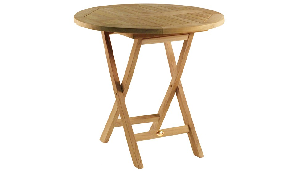 Table en teck LA DIGUE, Grade A, Ø 80.0 cm
