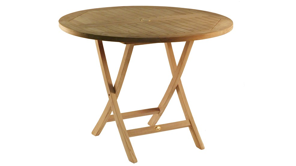 Table en teck PRASLIN , Grade A, Ø 100.0 cm