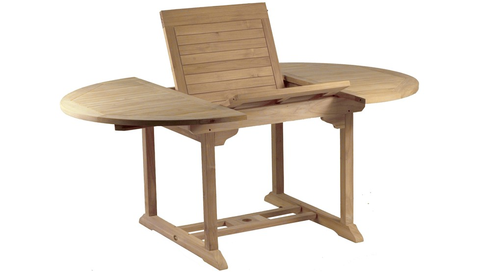 Table en teck MOOREA, Grade A, 120-180.0 cm