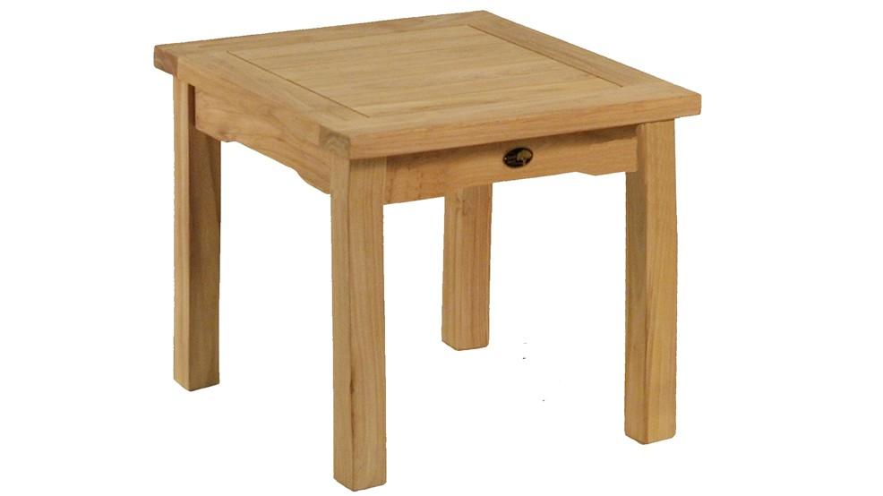 Table basse en teck massif, 50x50cm
