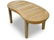Table basse en teck, 120x60 cm, KUTA