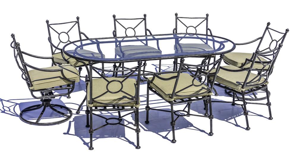 Salon en aluminium oval, 8p. SEVILLE
